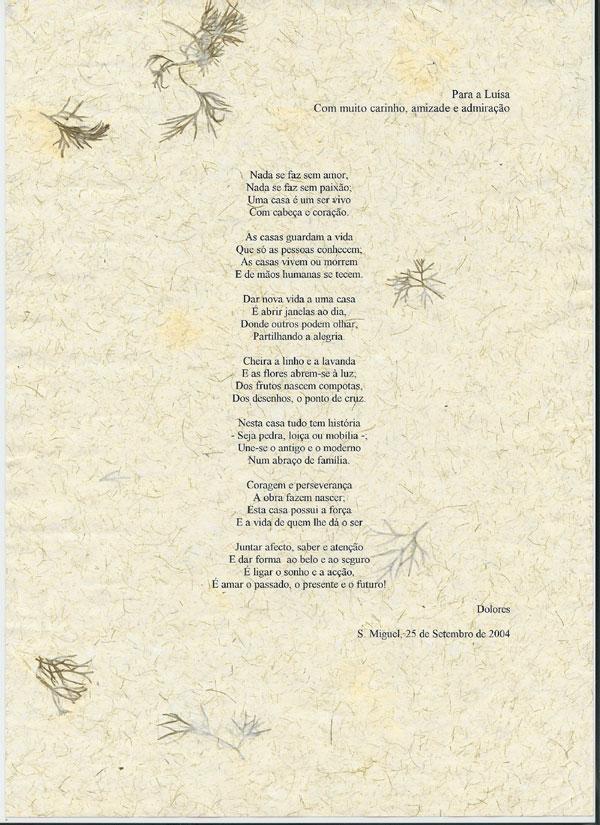 25-09-2004 - Para a Luísa, com muito carinho, amizade e admiração