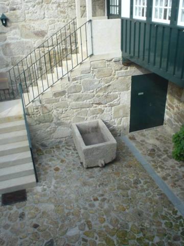 Vista da varanda para o pátio interior