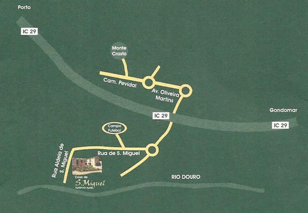 Mapa de localização da Casa S. Miguel